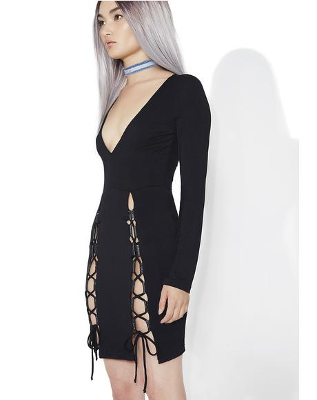 Sister Salem Lace-Up Dress
