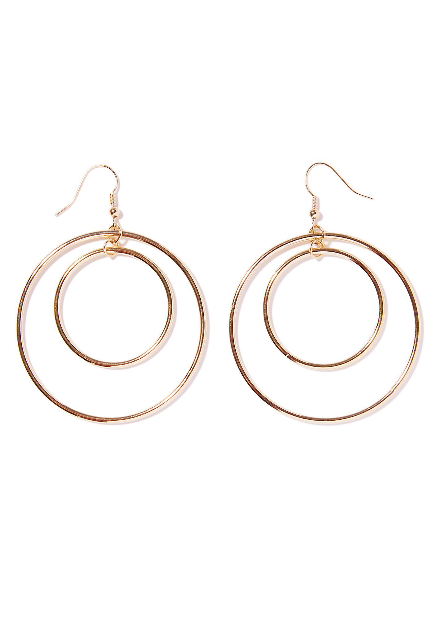 Diva Nation Double Hoop Earrings