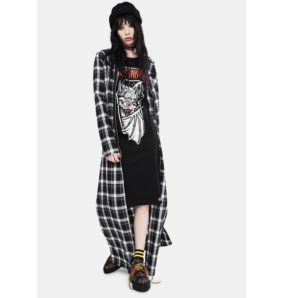 Electric Witch Forsaken Long Sleeve Graphic Dress