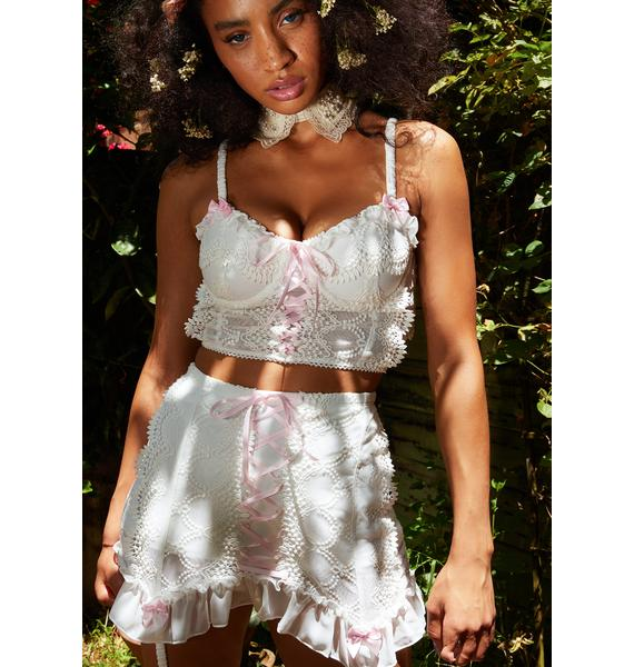 Sugar Thrillz Sincerely Yours Lace Bustier