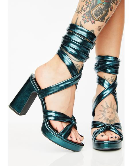 Electrik Doll Wrap Heels