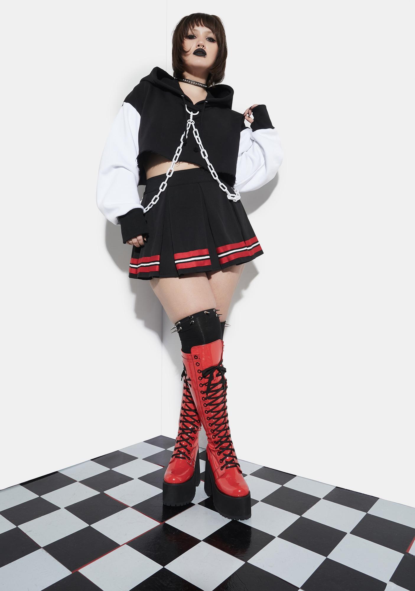 Current Mood Satan's Spirit Squad Pleated Cheer Skirt