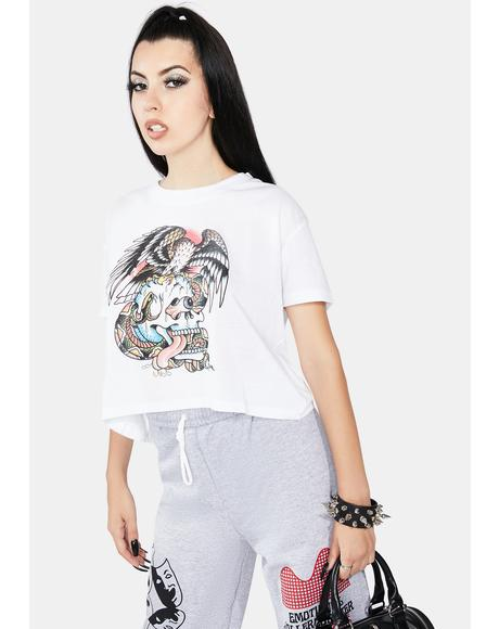 Battle Skull Washed Graphic Tee