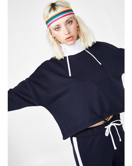 Double Zip Crop Pullover