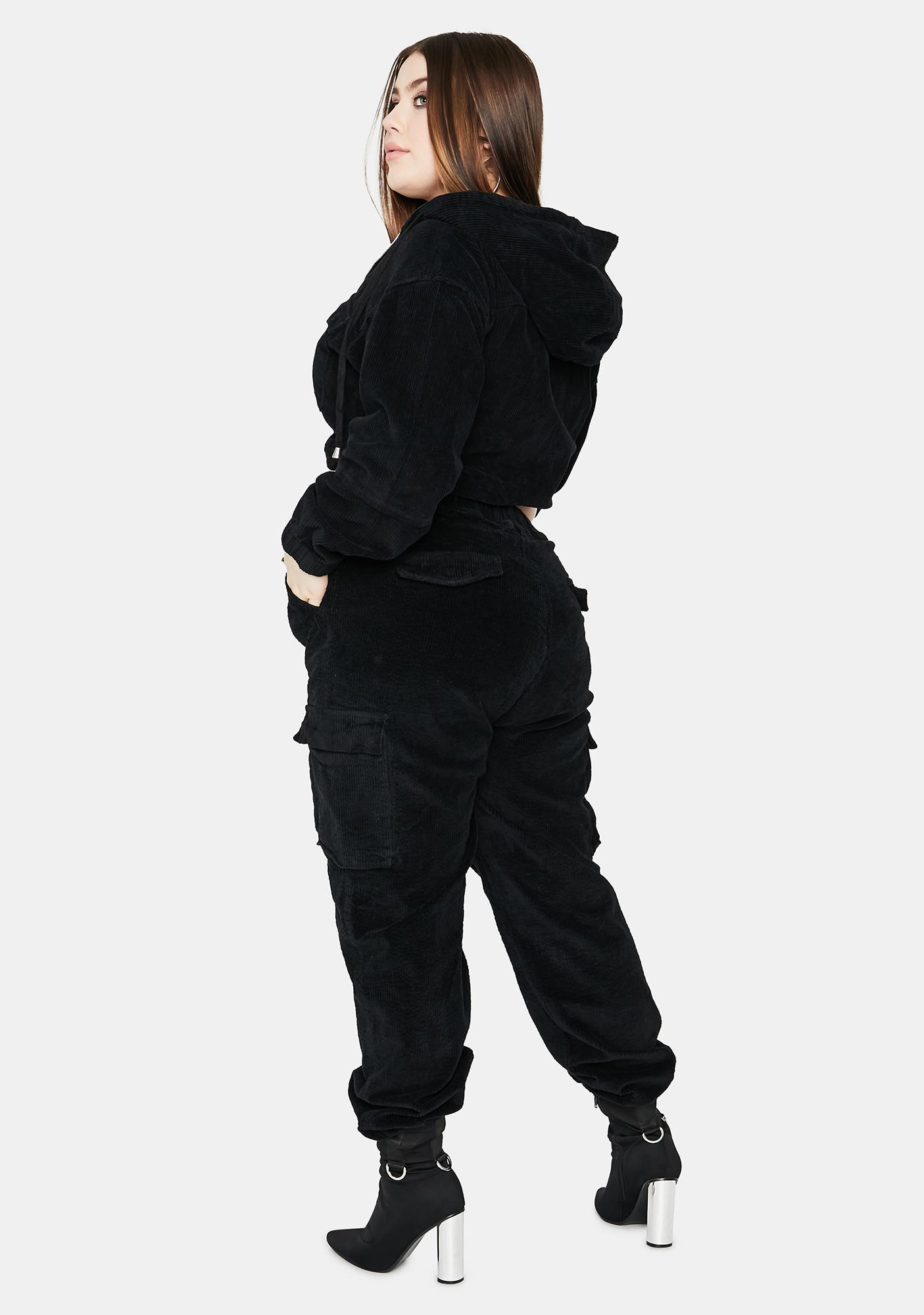 Dark Babe I Know Places Cargo Joggers