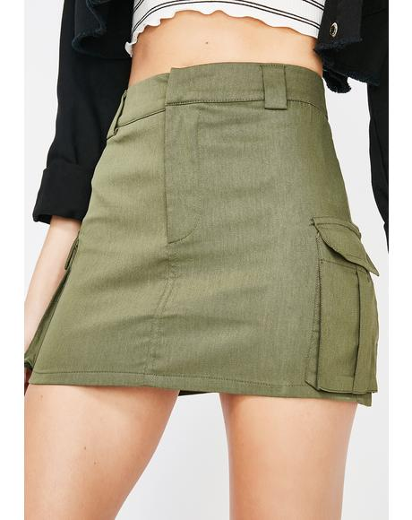 New Level Cargo Mini Skirt