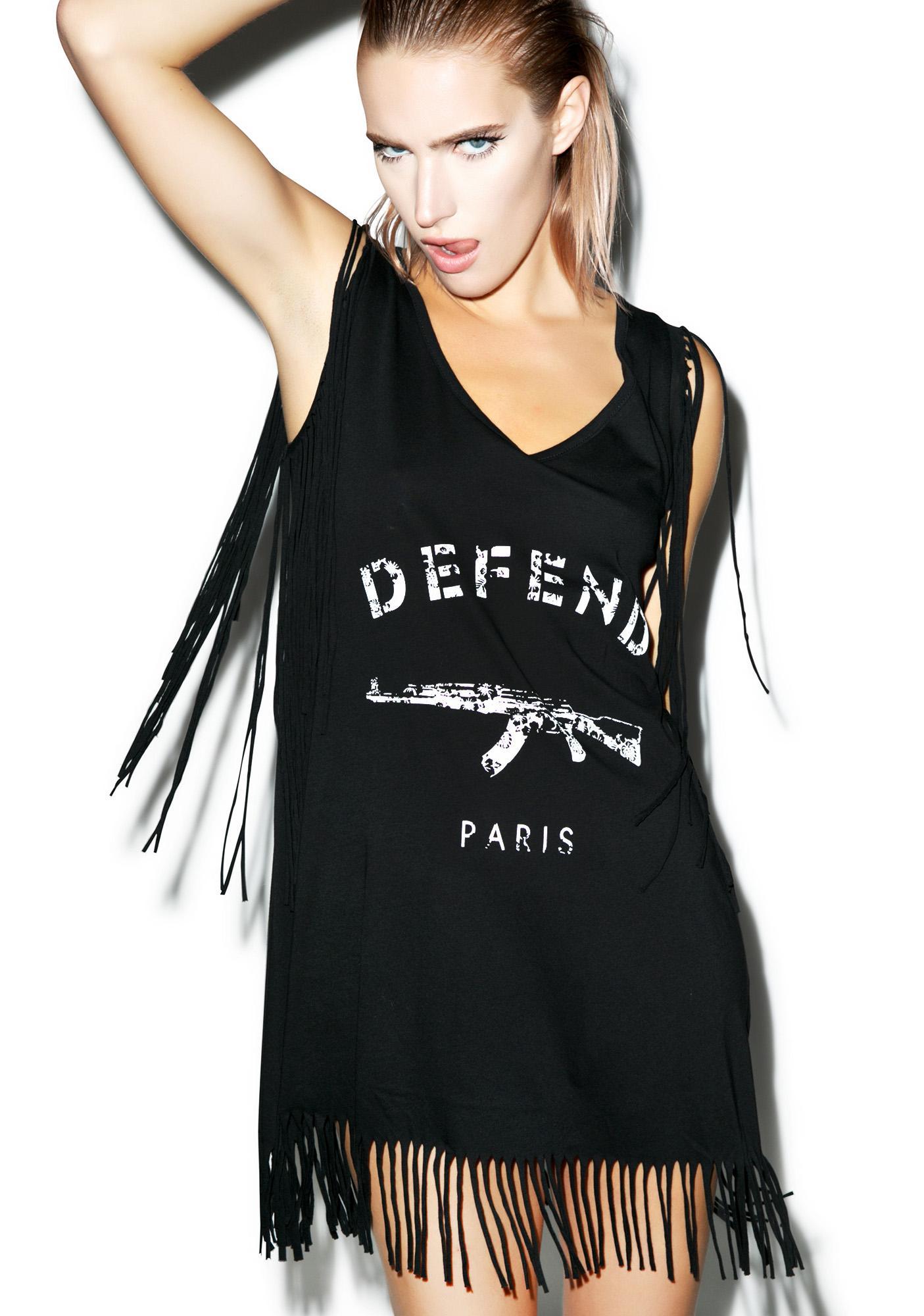 Defend Paris Fringe Dress