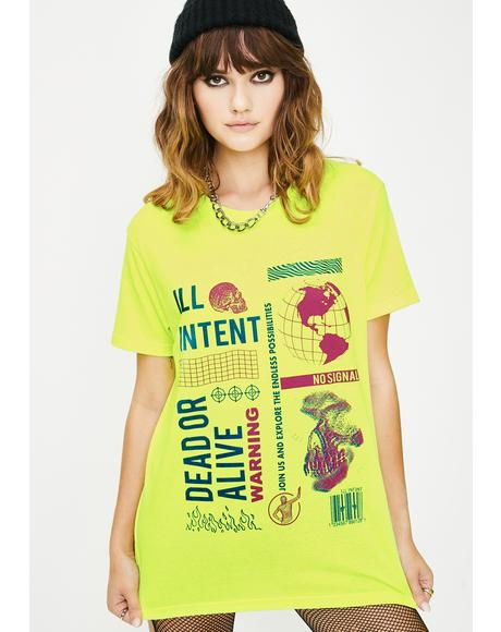 Neon Dead Or Alive Graphic Tee