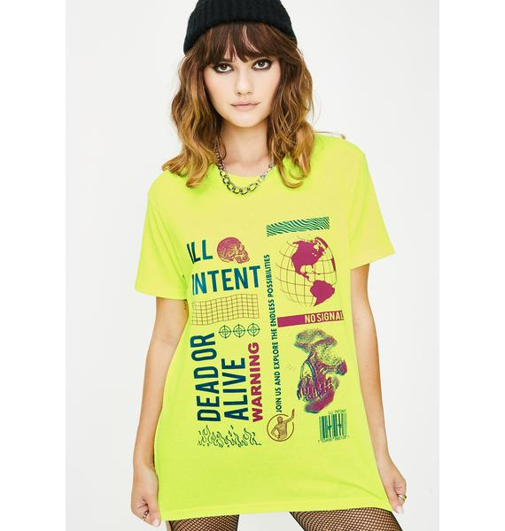 ILL INTENT Neon Dead Or Alive Graphic Tee