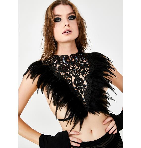 Love Khaos Midnight Gypsy Lace Top