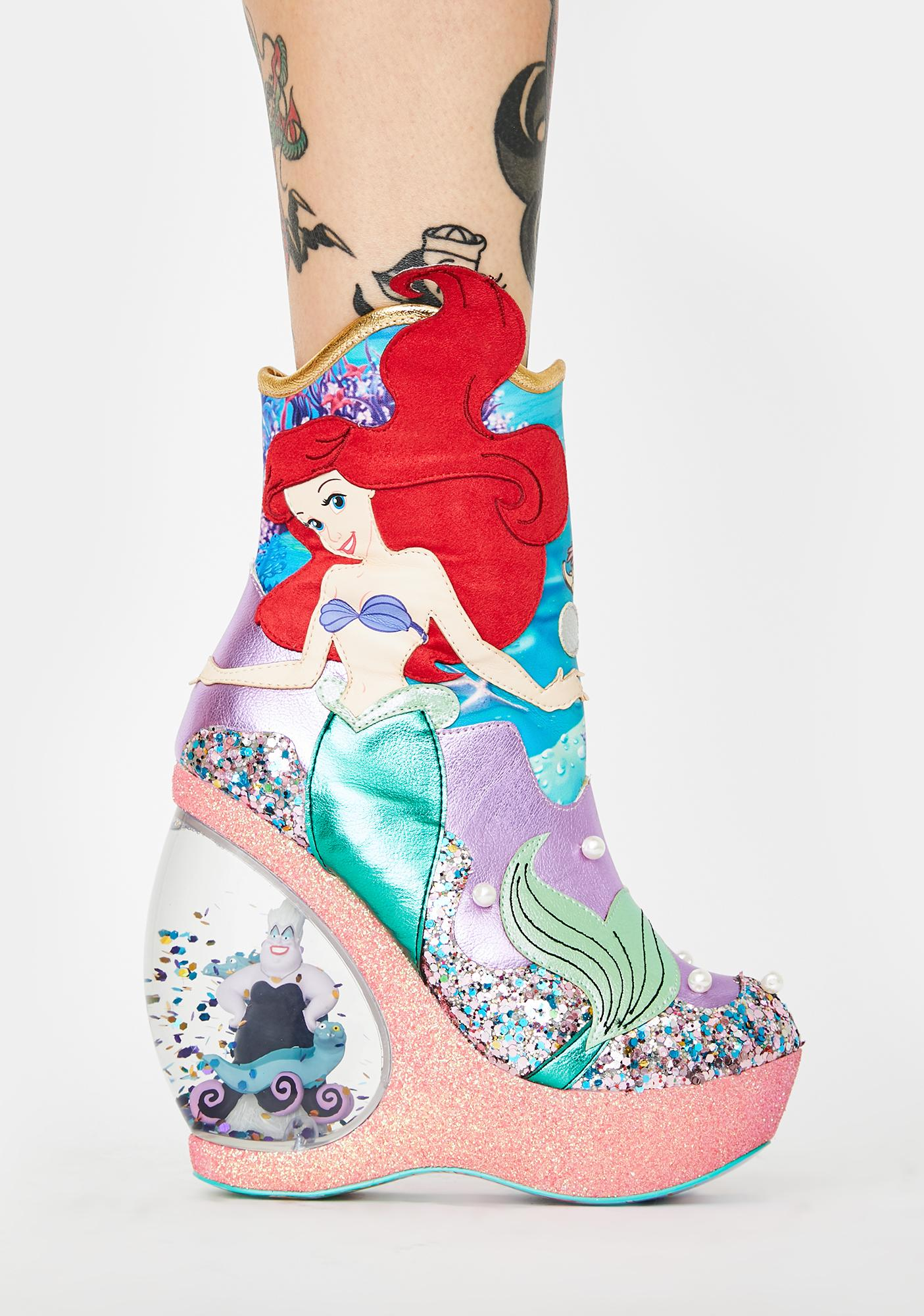Irregular Choice Just Me N' The Sea Platform Boots
