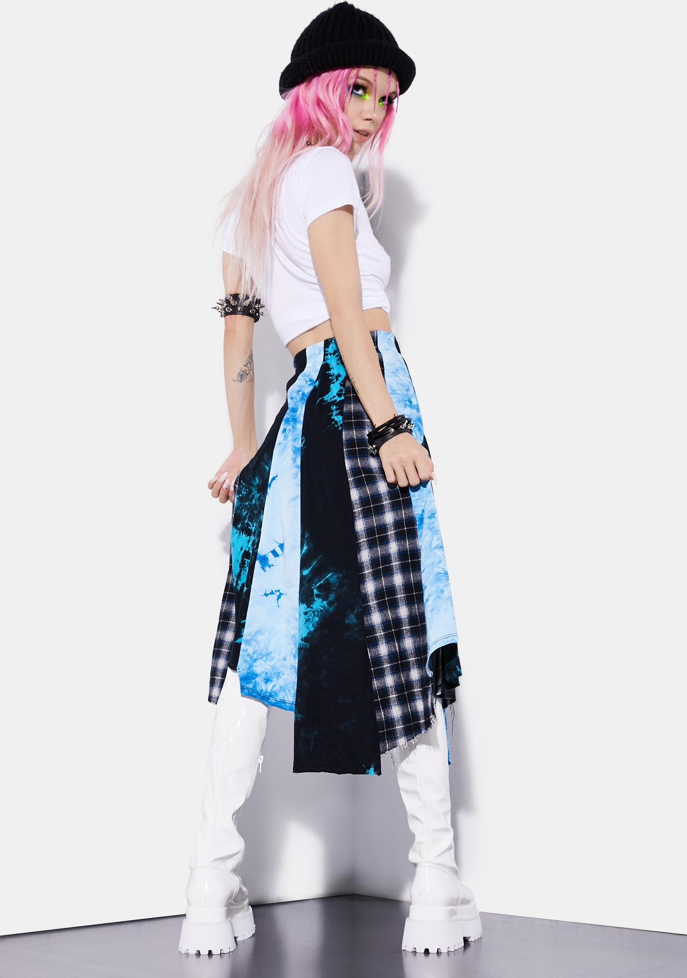 Current Mood Stop Shock And Roll Maxi Skirt