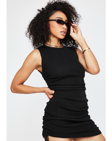 Black Military Minds Mini Dress