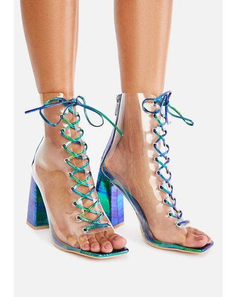 Mermaid Magic Hour Lace Up Heels