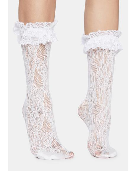 Heart Grows Fonder Sheer Lace Socks
