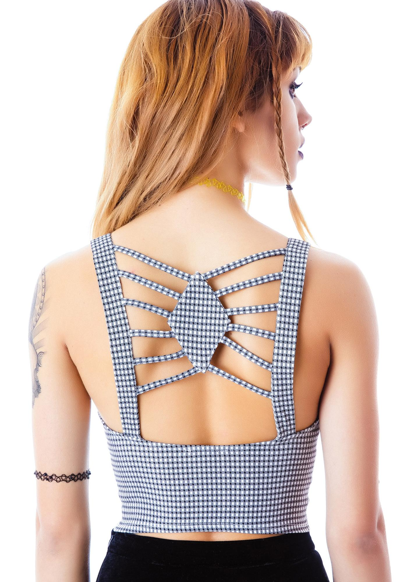 Elly May Gingham Crop Tank