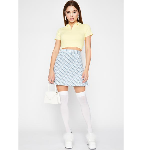 I'm Over You Polo Crop Top
