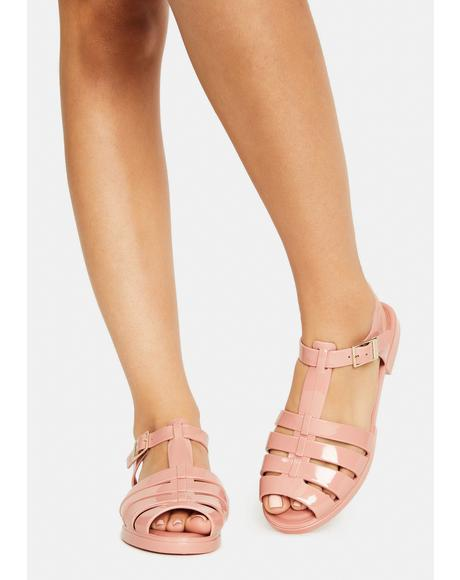 Blush Olly Jelly Sandals