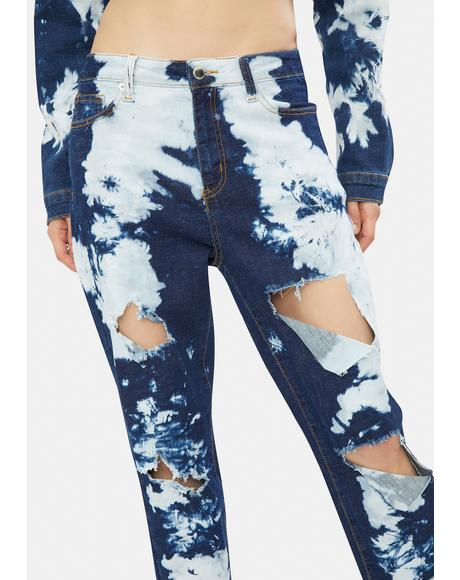 Get Inspired Distressed Tie Dye Jeans