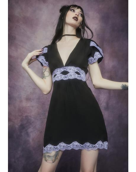 Lilac Bloody Valentine A-Line Dress