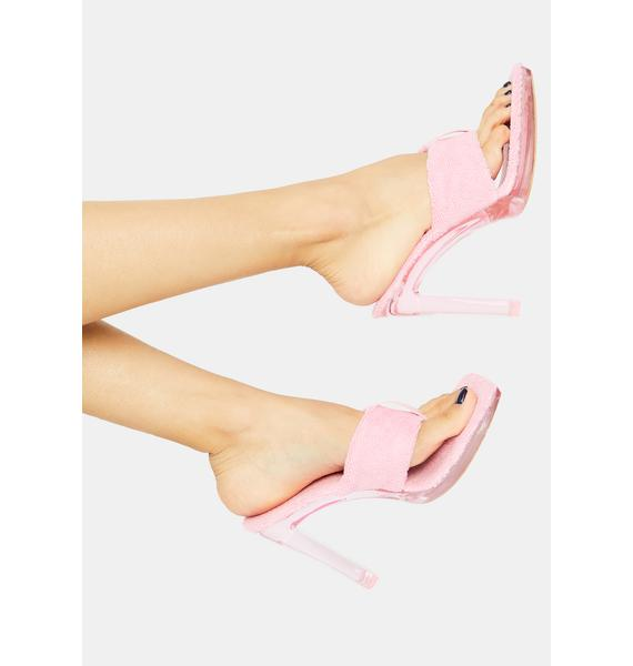 Candy Catch My Drip Chunky Terry Thong Heels