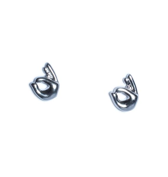 Rock n Rose OK Emoji Earrings