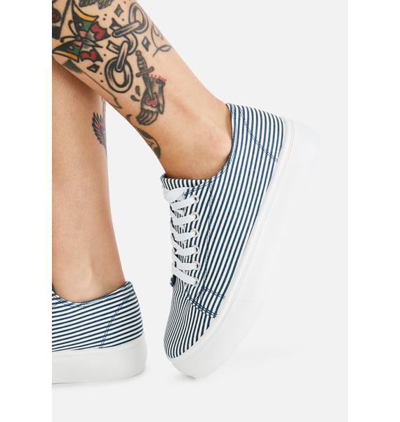 Striped Not So Sly Low Top Sneakers