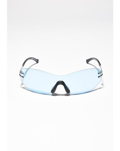 Sea Above The Clouds Clear Sunglasses