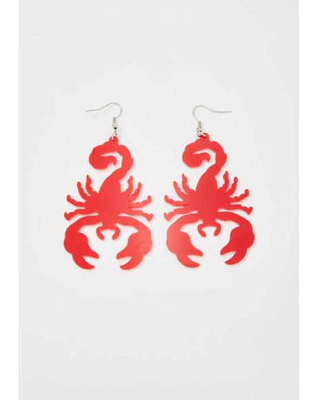 Deadly Scorpion Drop Earrings