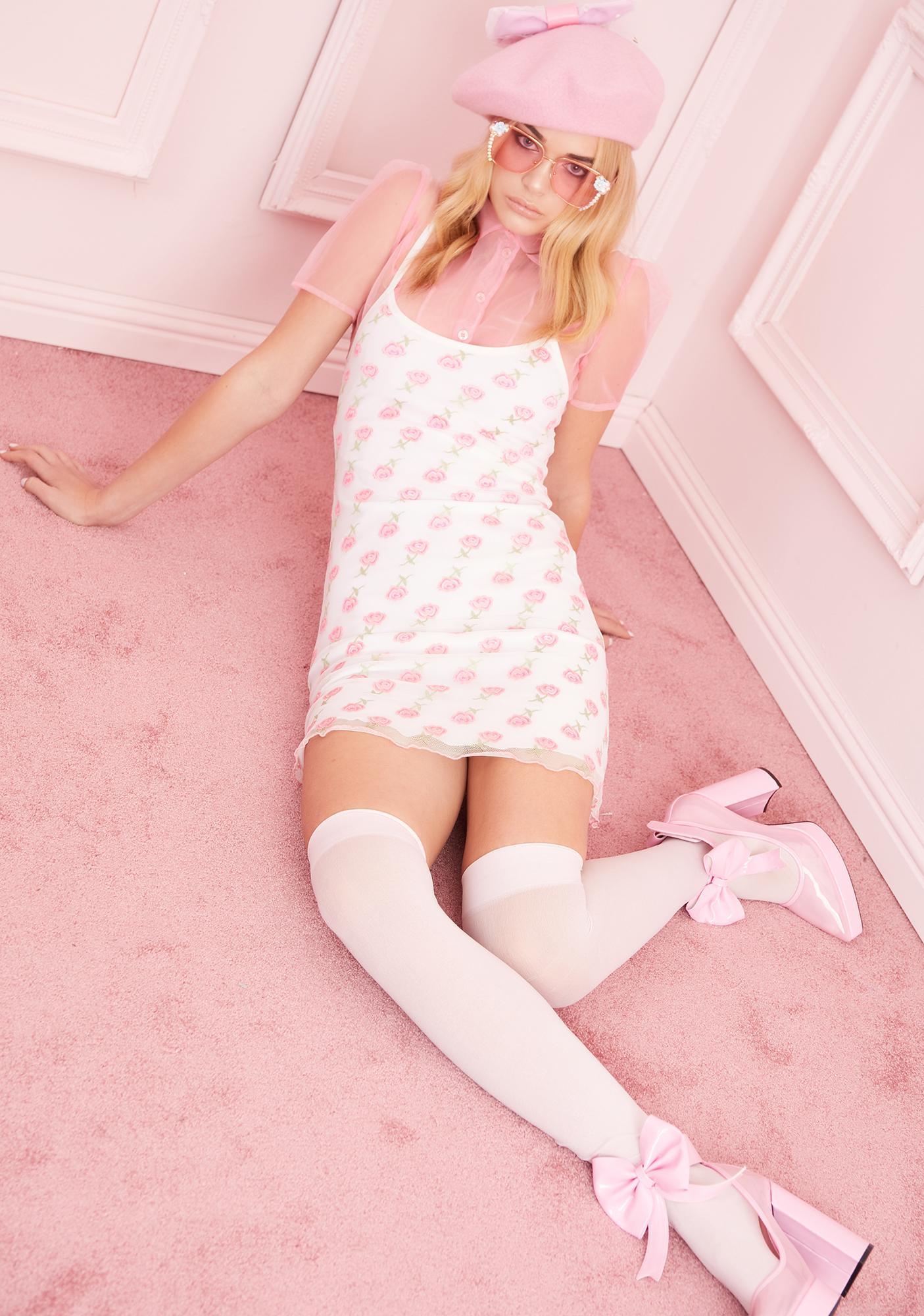 Sugar Thrillz Kiss From A Rose Mesh Dress