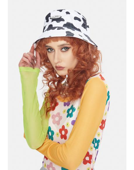 Cow Print Bucket Hat