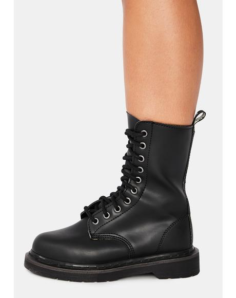 Never Back Down Combat Boots