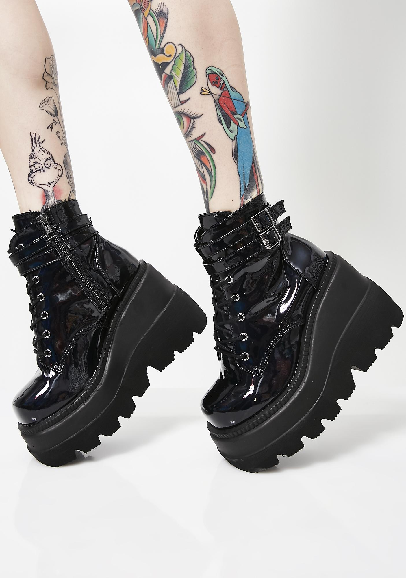 Demonia Dark Prism Technopagan Boots