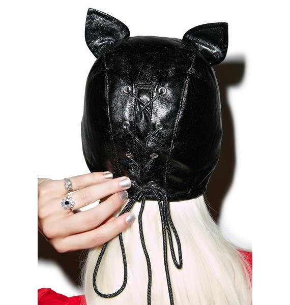 Bad Kitten Bondage Mask
