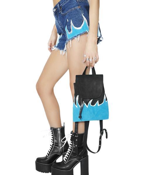 American Vintage Blue Flame Mini Backpack