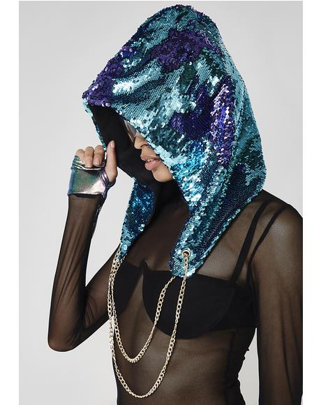 Balleristic Mystic Sequin Hood