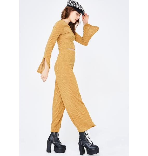 Lemon Squeezy Ribbed Pants