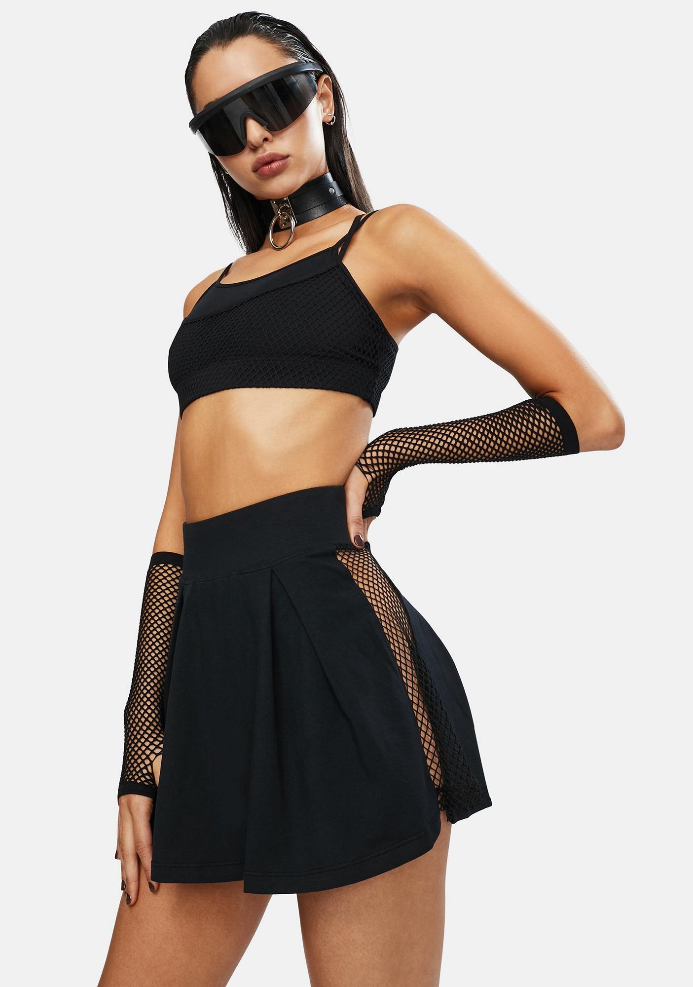 Club Exx Serve It Up Fishnet Tennis Skirt