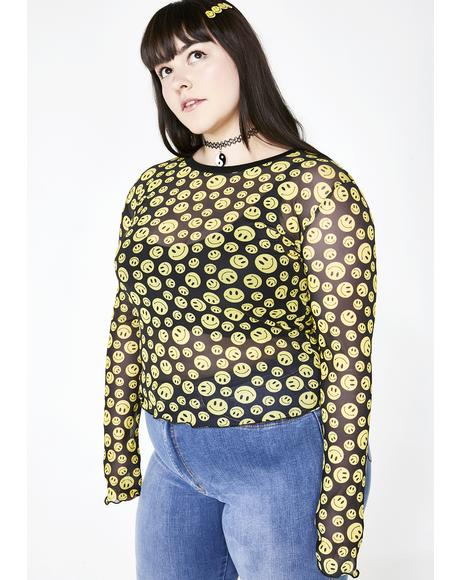 Totally Happy Hour Mesh Top