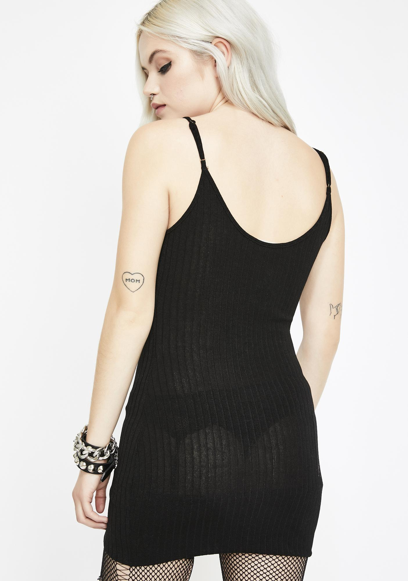 Ink Underneath It All Ribbed Dress