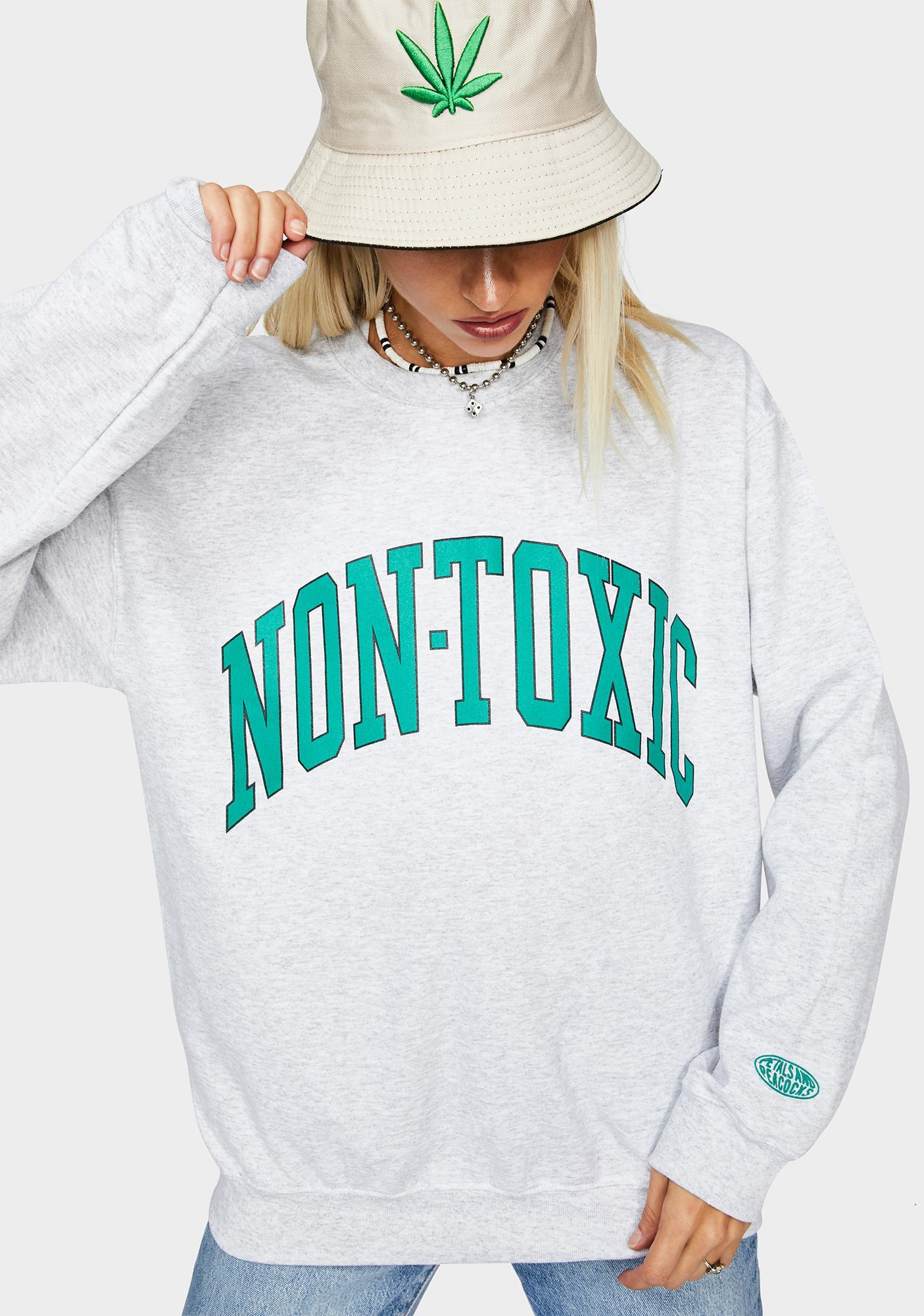 Petals and Peacocks Non Toxic Graphic Sweatshirt
