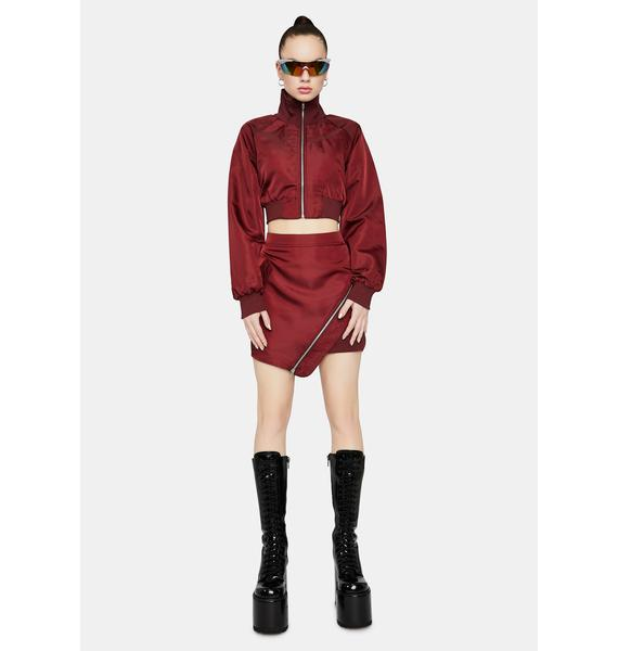 Wine Ring The Alarm Bomber Jacket