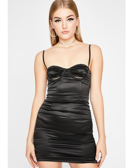 Out For The Night Satin Dress