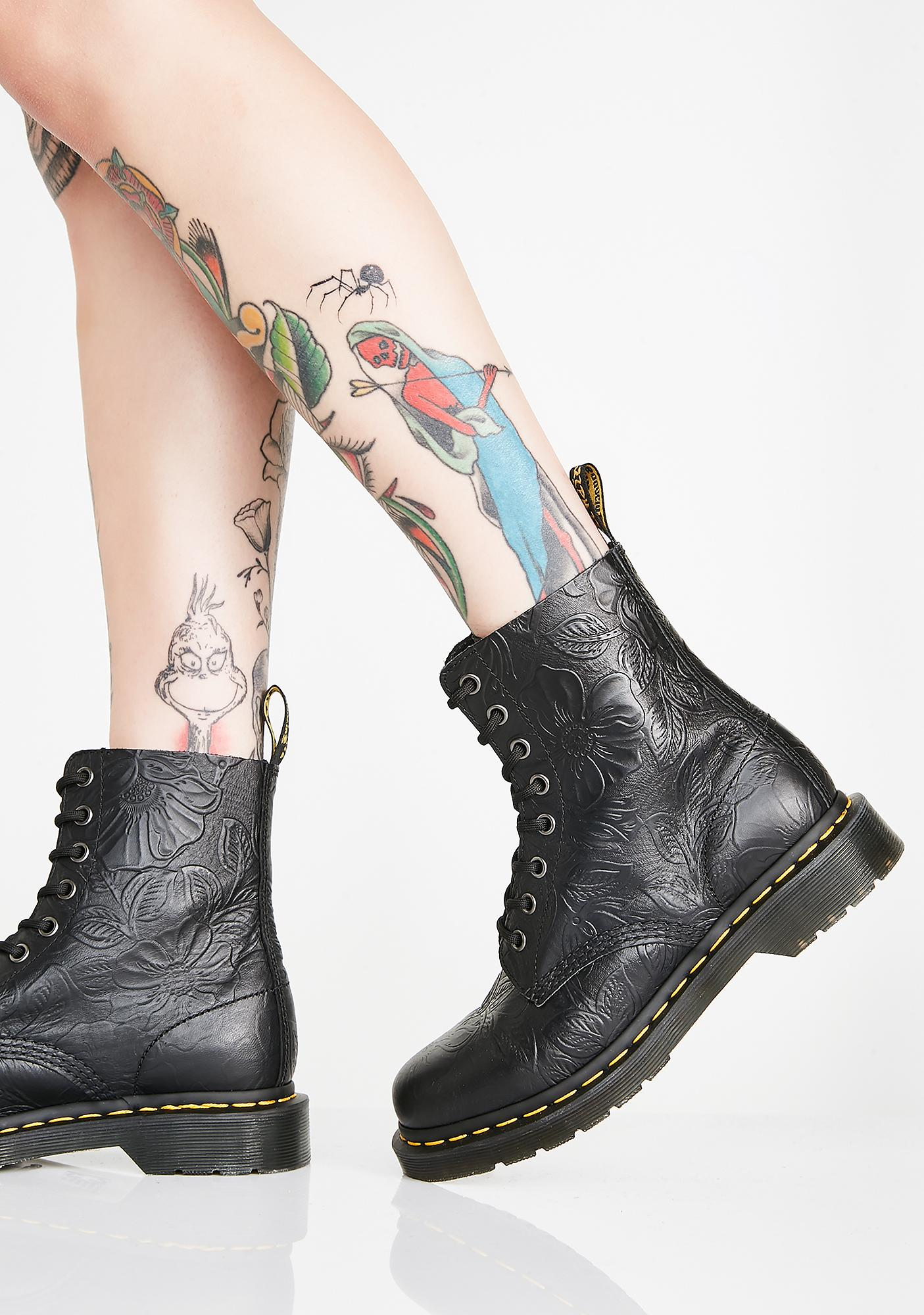 Dr. Martens 1460 Pascal Floral Emboss Boots