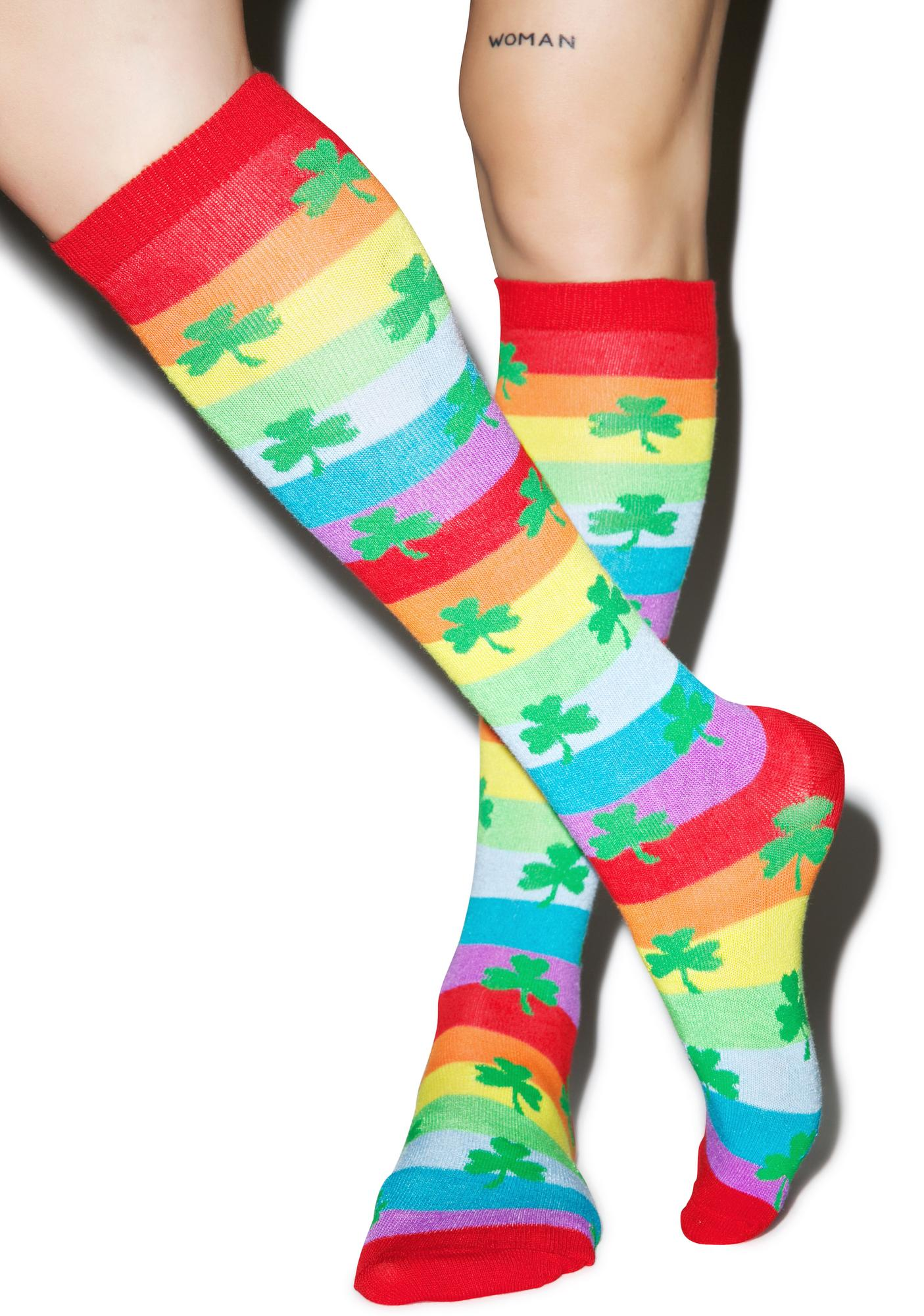 Get Lucky Knee High Socks