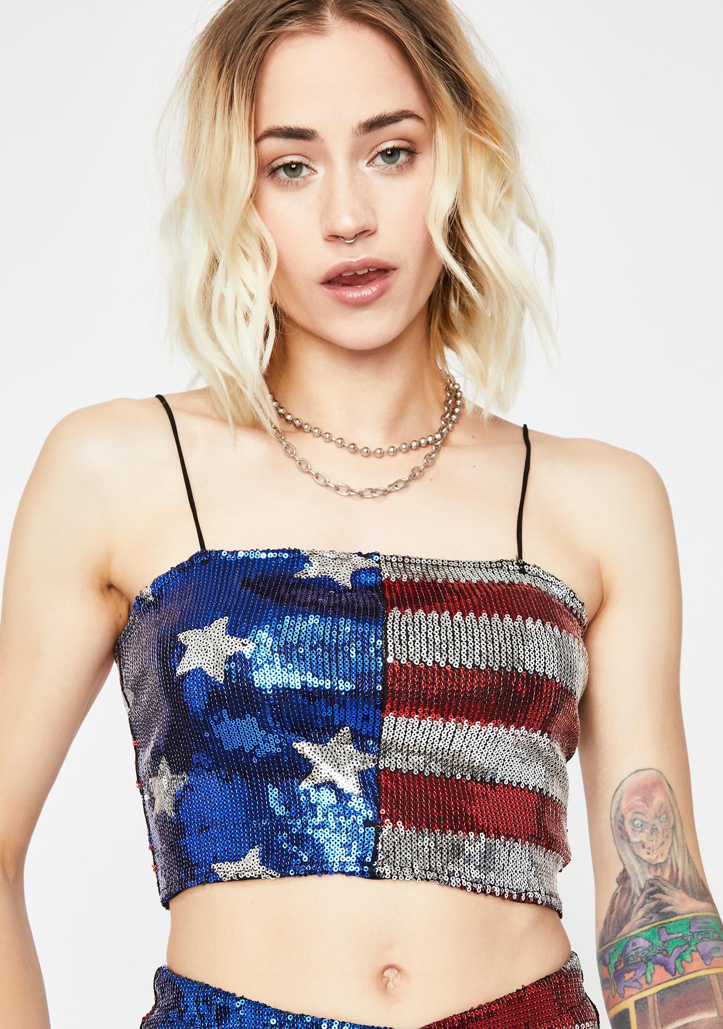 U.S Ayeee Sequin Top