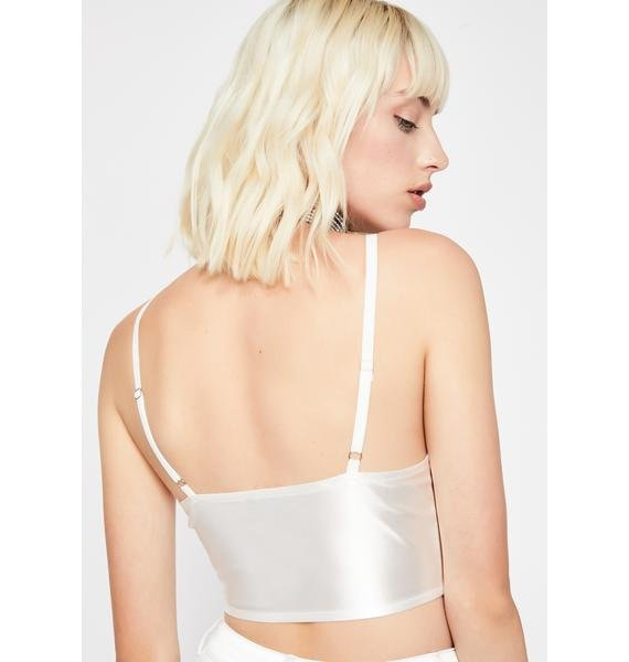 Icy Hell'z Angel Satin Top