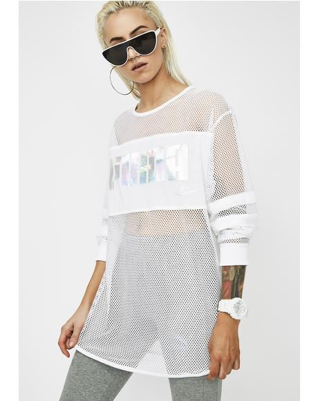 x Sophia Webster Mesh Long Sleeve