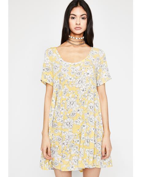 Sunny Hotel Flora Babydoll Dress
