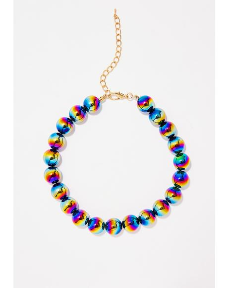 Space Ballz Oil Slick Necklace